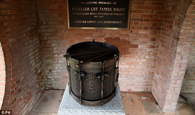 A memorial bronze drum was placed in Middleton Memorial Gardens in Cheshire, Mrs Rigby's home town
