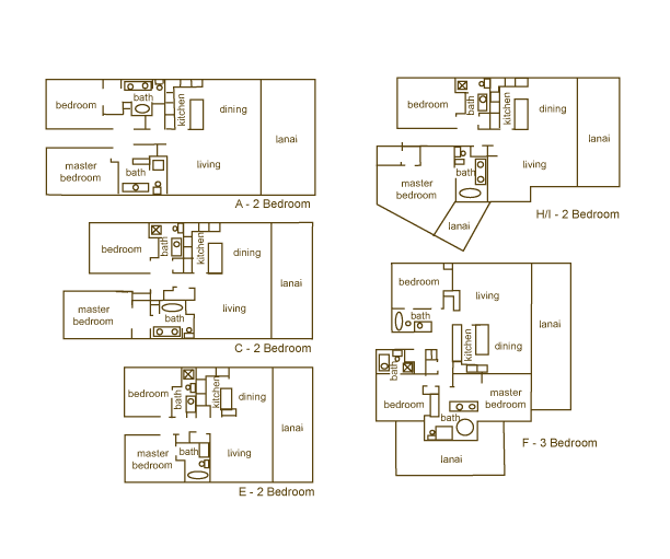 Makena Surf - Floor Plans - Makena Maui