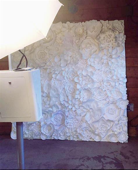 7ft hand crafted paper flower wall Denver, Colorado rental