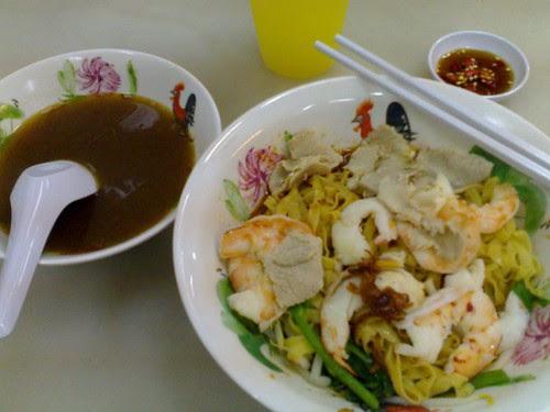 $5.50 Mee Pok Prawn Noodle