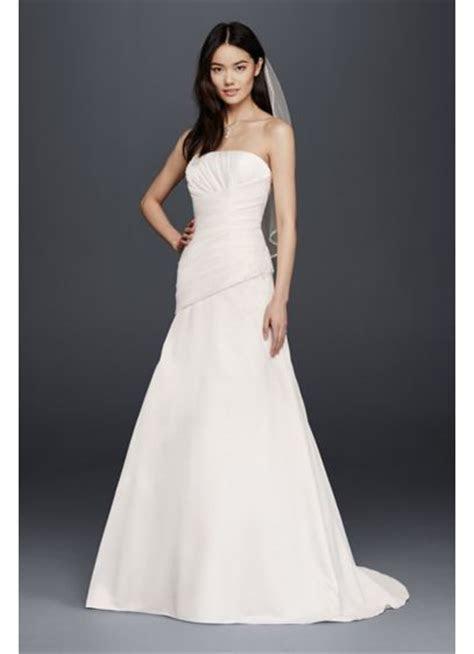 Strapless Satin A Line Wedding Dress   David's Bridal