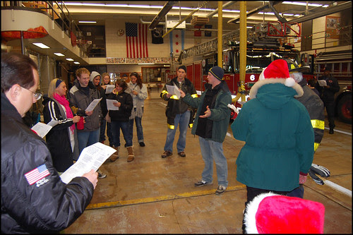 Caroling at Engine Company 13