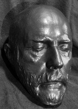 English: Robert E. Lee death mask from the aut...