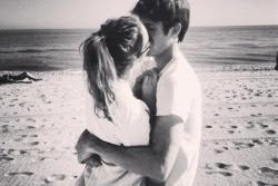 Casal Frases Te Amo Casais Abraço Praia Preto E Branco Beijo Namoro