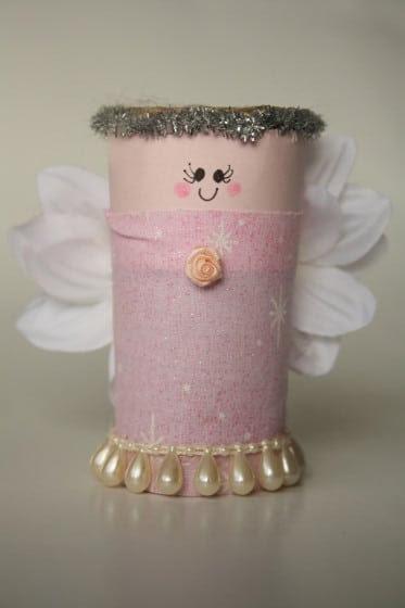 toilet roll nativity set angel