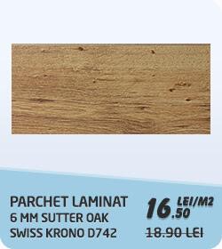 Parchet laminat 6 mm sutter oak Swiss Krono Promo D742 clasa 31 la 16.5 lei / m2