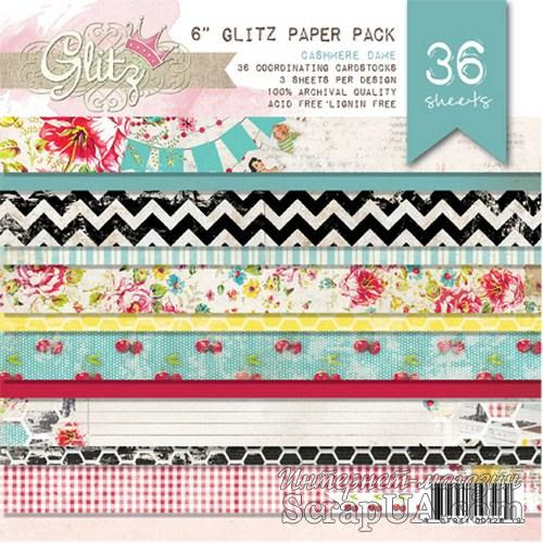 Набор бумаги Glitz Design - Cashmere Dame, 15х15 см - ScrapUA.com