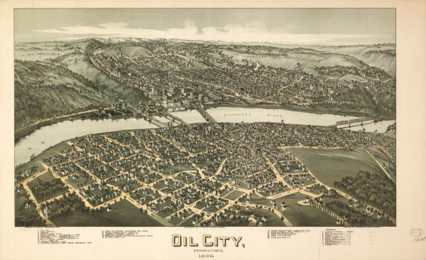 Oil Town Aero Views American Oil Gas Historical Society