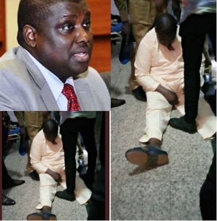 See The Dramatic Moment Abdurasheed Maina Collapsed In Court (Video)