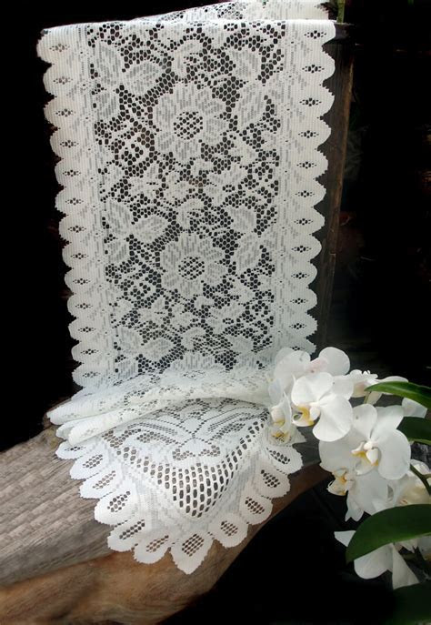 """Lace Table Runners Ivory 13"""" x 120in"""