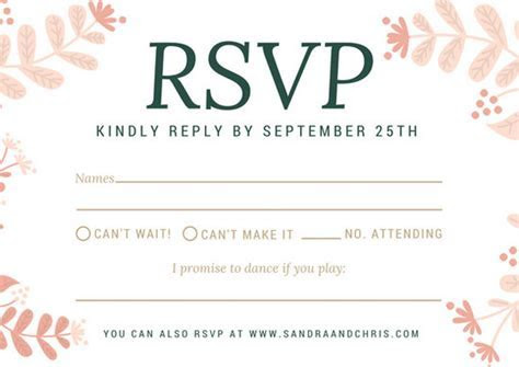 Customize 66  RSVP Postcard templates online   Canva