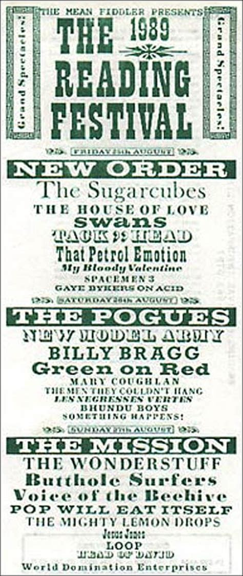 It was twenty years ago today the 1989 Reading Festival