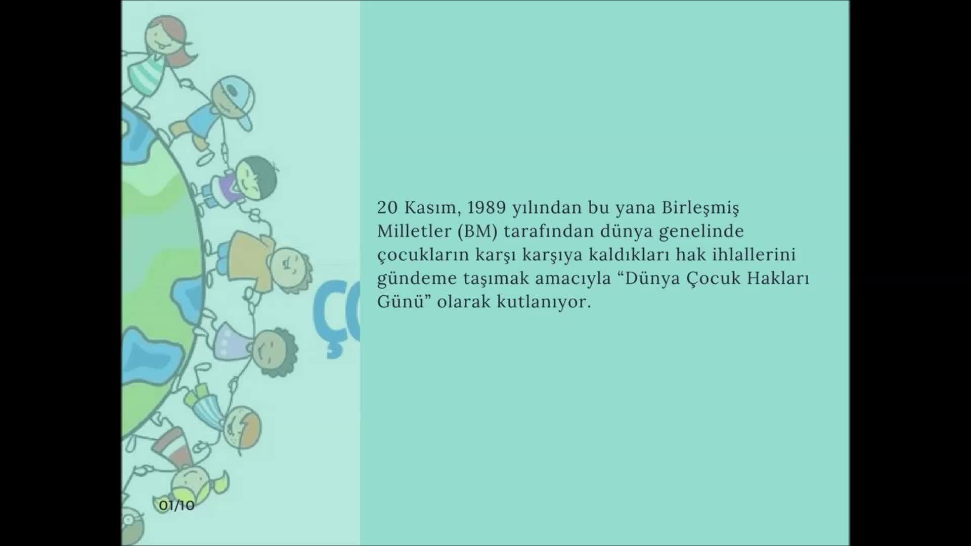 20 Kasım Dünya çocuk Hakları Günü Samsun Canik Tevfik Ileri