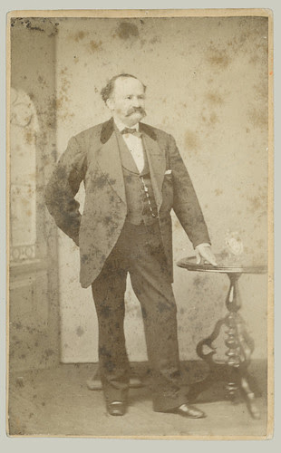 CDV man and round table