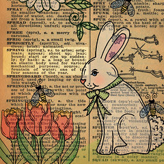 1940s Dictionary Page Spring 2