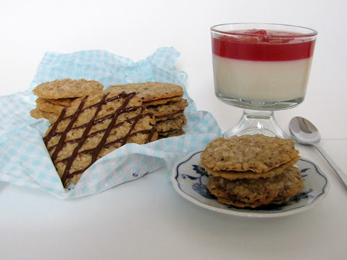 Panna Cotta and Florentine Cookies