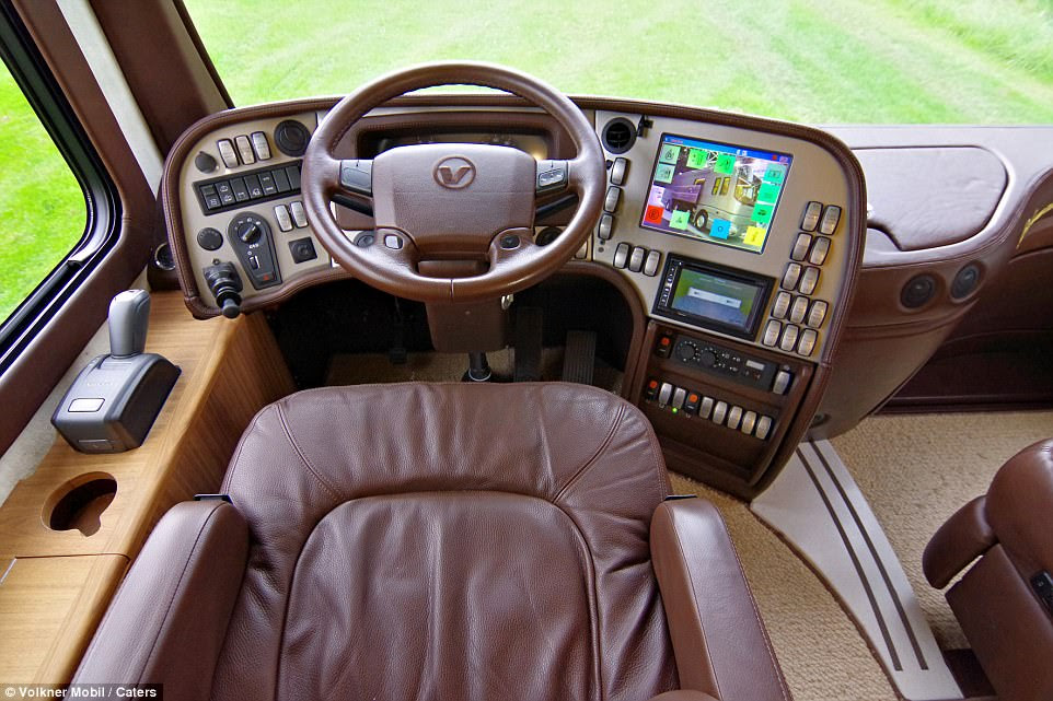 The made-to-order machines take around 12 months to build. Pictured is the hi-tech dashboard
