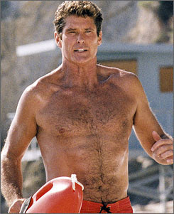 David Hasselhoff as the character Mitch Buchannon.