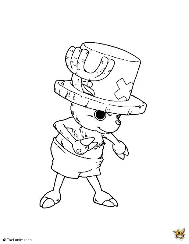 Tony Tony Chopper Est Un Coloriage De One Piece
