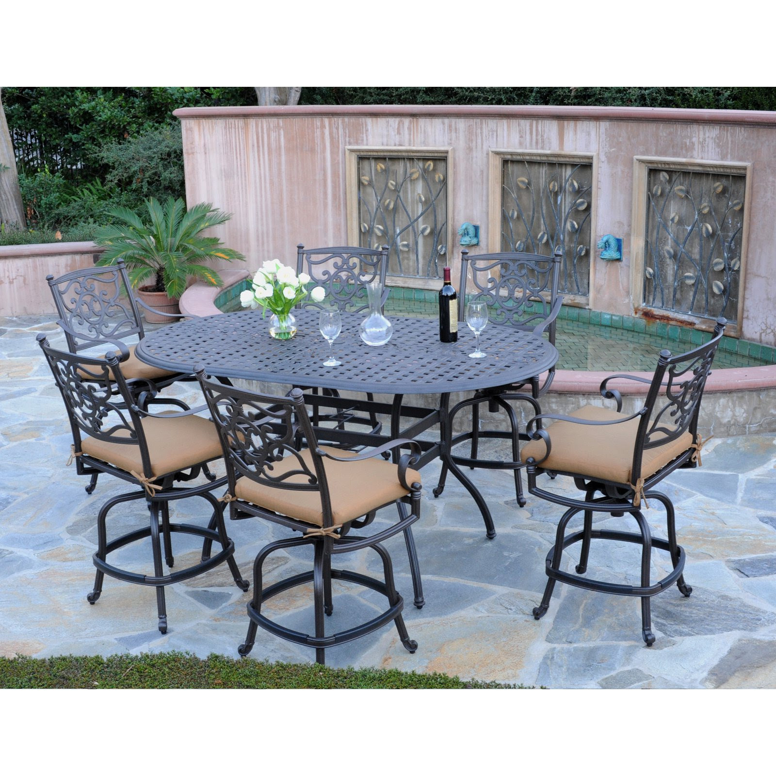 Furniture: Enjoy Your New Outdoor Furniture With Bar ...
