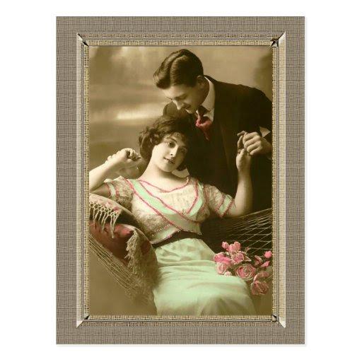Ρομαντικό ζευγάρι - αγαπάει την αφοσίωση Κάρτα Δημοσίευση