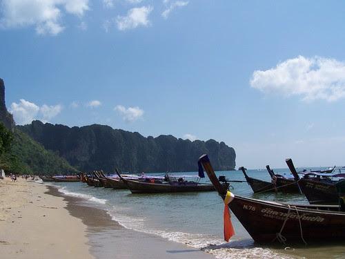 long tail boats at Ao Nang