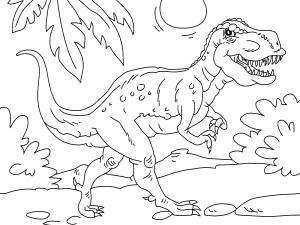 Colorear Tiranosaurio Rex Dibujos De Dinosaurios Para Colorear