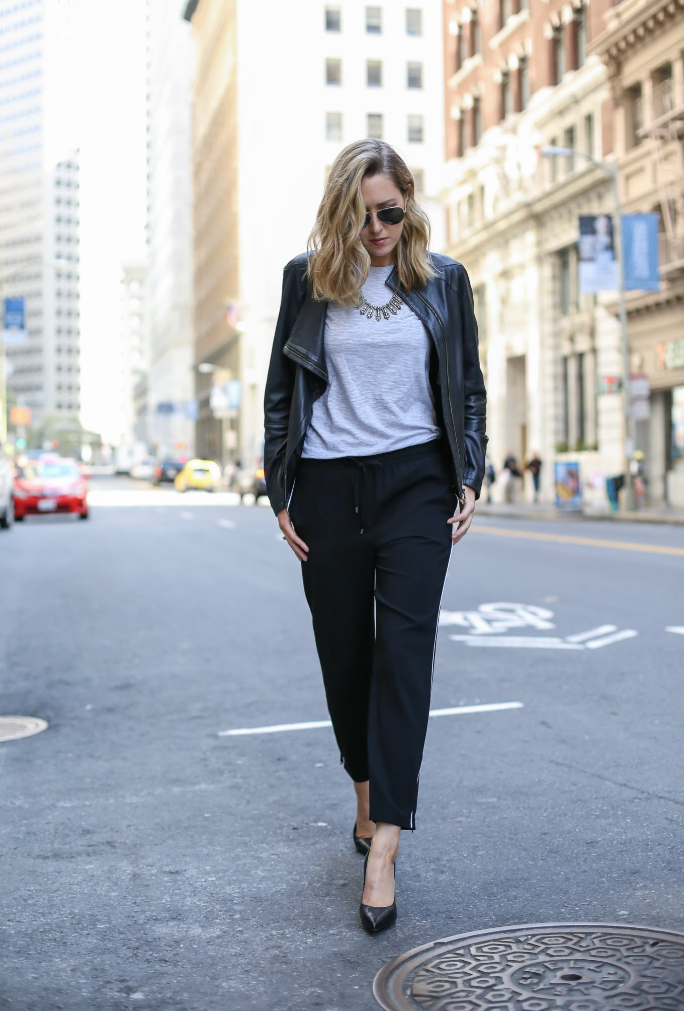 how to wear track pants to the office  memorandum  nyc