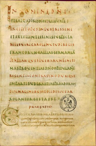 Blatt aus den Libri Carolini