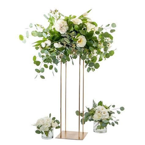 Florist Tall Gold Metal Stand (rental)   One day