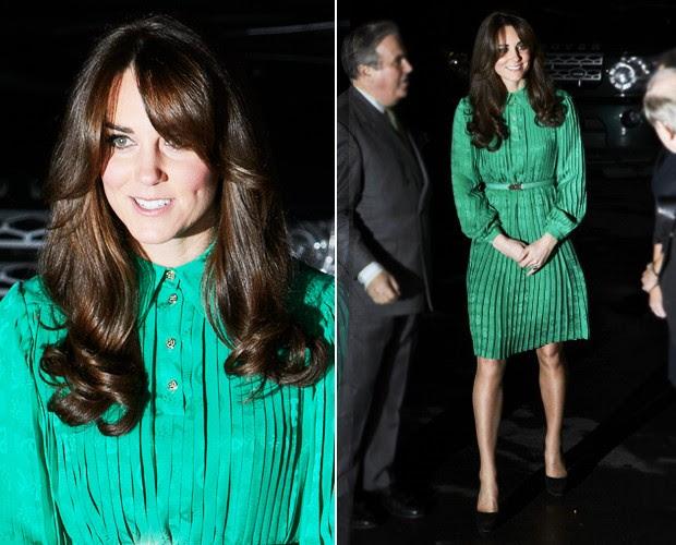 Kate Middleton aparece com novo corte de cabelo, em Londres (Foto: Getty Images)