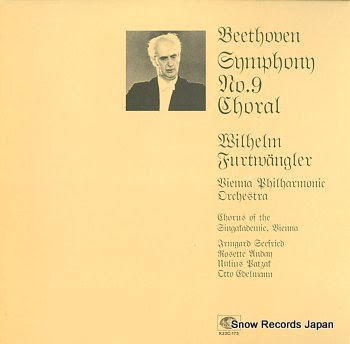 FURTWANGLER, WILHELM beethoven; symphony no.9 in d minor, op.125 choral