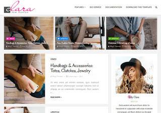 Clara Fashion Blogger Template