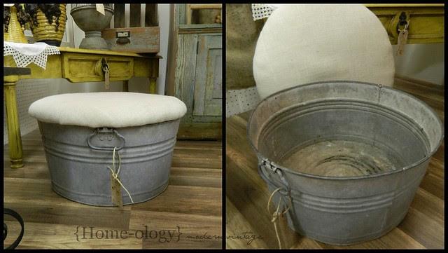 upcycled galvanized tub via homeologymodernvintage.com