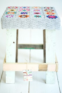 wood & wool stool lucy