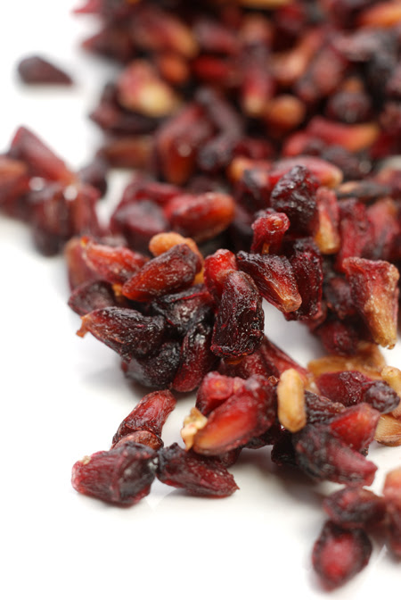dried Pomegranate seeds© by Haalo