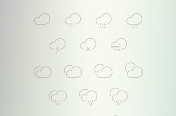Outlined Weather Icons