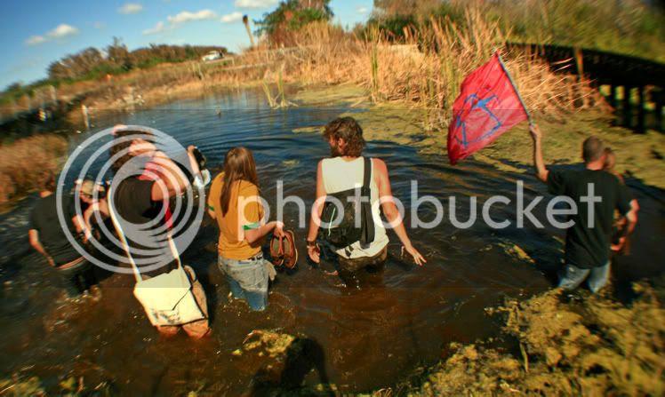 Everglades Earth First! activists enter Barley Barber swamp