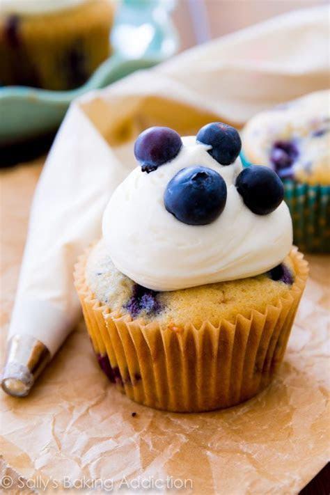 Blueberries 'n Cream Cupcakes.   Sallys Baking Addiction