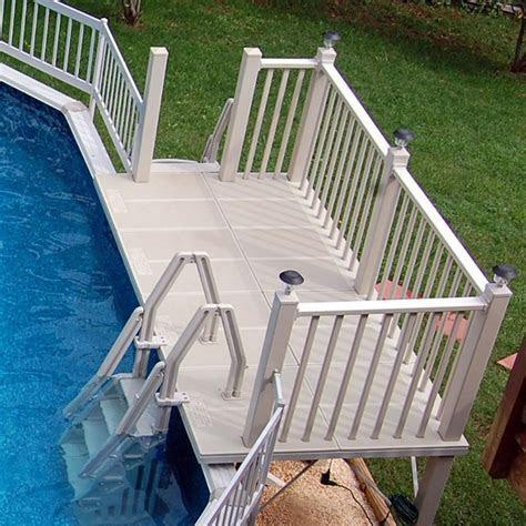 Above Ground Pool Step Railings   Round Designs