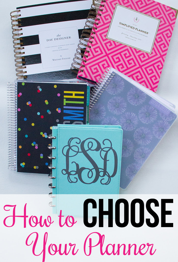 How to Choose a Planner - I Heart Planners
