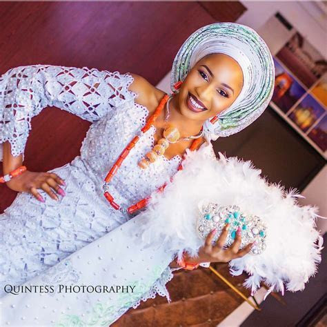 White aso oke ideas for Traditional wedding 2017