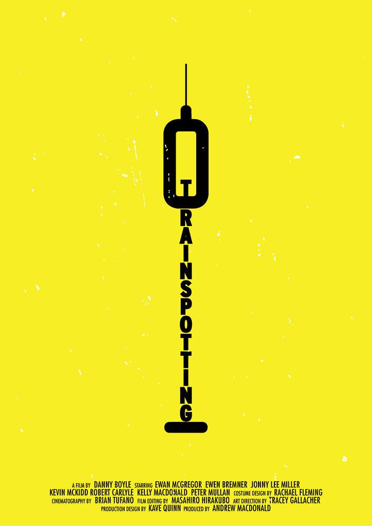 'Trainspotting' minimalist movie poster