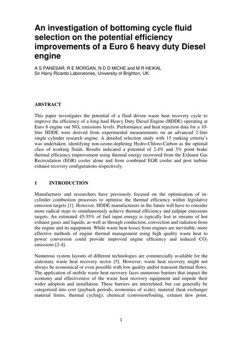 (PDF) An investigation of bottoming cycle fluid selection