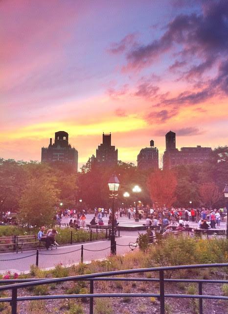 Washington Square Park sunset