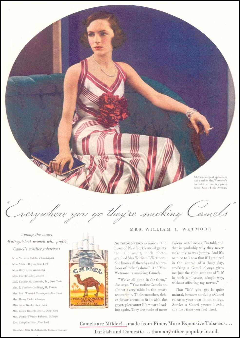 CAMEL CIGARETTES GOOD HOUSEKEEPING 03/01/1935