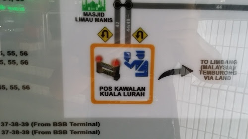 BSBで路線図確認して Kuala Lurah 関所へ