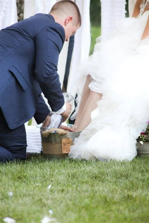 Foot washing during the wedding ceremony   My wedding