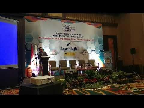 Sambutan Ketua SMSI Pusat Auri Jaya di Rakerda 2 SMSI Jawa Barat