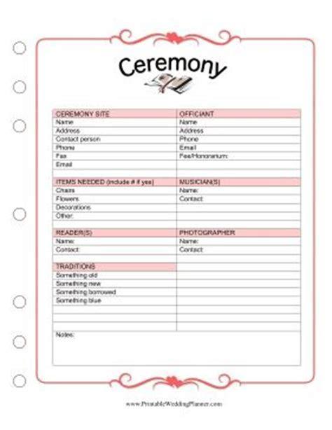 1000  ideas about Wedding Ceremony Checklist on Pinterest